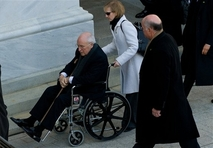 Cheney in wheelchair